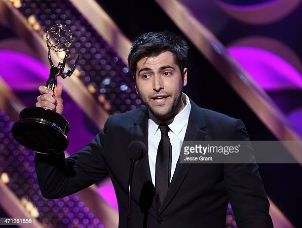 Actor Freddie Smith accepts the Outstanding Young Actor in a Drama Series award for Days of Our Lives onstage during The 42nd Annual Daytime Emmy...