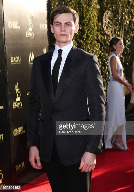 Actor Freddy Carter attends the 45th Annual Daytime Creative Arts Emmy Awards at the Pasadena Civic Auditorium on April 27 2018 in Pasadena California