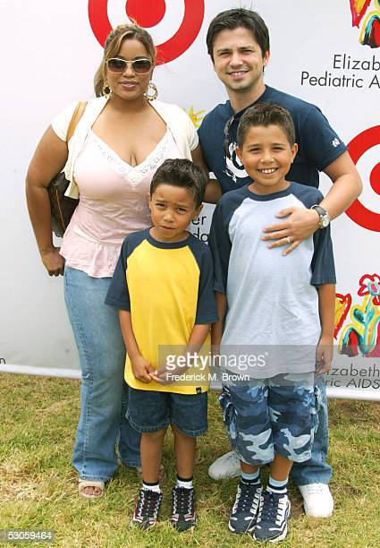 Actor Freddy Rodriguez and his family attend the Elizabeth Glaser Pediatric Aids Foundation event at the Wadsworth Theater on May 12 2005 in Los...