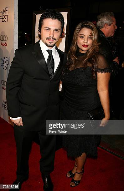 Actor Freddy Rodriguez and wife Elsie arrives at the AFI FEST presented by Audi opening night gala of Bobby at the Grauman's Chinese Theatre on...