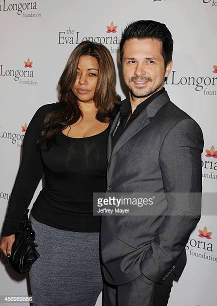 Actor Freddy Rodriguez and wife Elsie Rodriguez attend Eva Longoria's Foundation dinner at Beso on October 9 2014 in Hollywood California