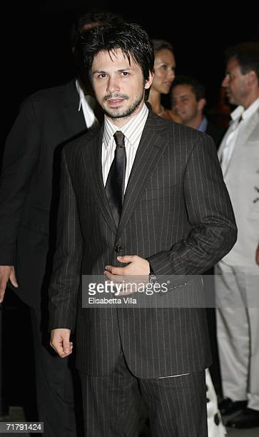 Actor Freddy Rodriguez arrives at the Hotel Luna Baglioni to attend a dinner party promoting 'Bobby' during the seventh day of the 63rd Venice Film...