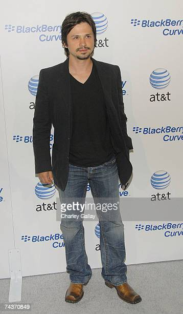 Actor Freddy Rodriguez arrives at the launch party for the new BlackBerry Curve at The Regent Beverly Wilshire Hotel on May 31 2007 in Los Angeles...