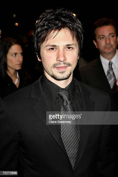 Actor Freddy Rodriguez arrives at The Times BFI 50th London Film Festival Times gala screening of Bobby at Odeon West End on October 26 2006 in...