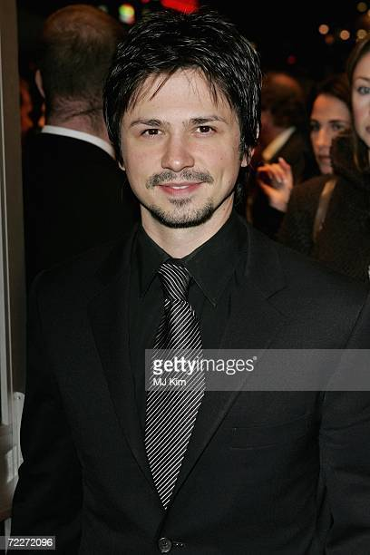 Actor Freddy Rodriguez attends the premiere of the movie Bobby held at the Odeon West End on October 26 2006 in London England