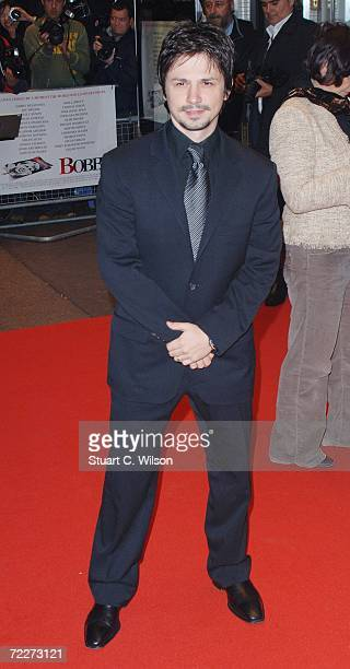 Actor Freddy Rodriguez attends the premiere of the movie 'Bobby' held at the Odeon West End on October 26 2006 in London England