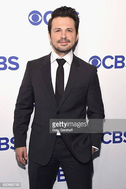 Actor Freddy Rodriguez of 'Bull' attends the 2016 CBS Upfront at Oak Room on May 18 2016 in New York City