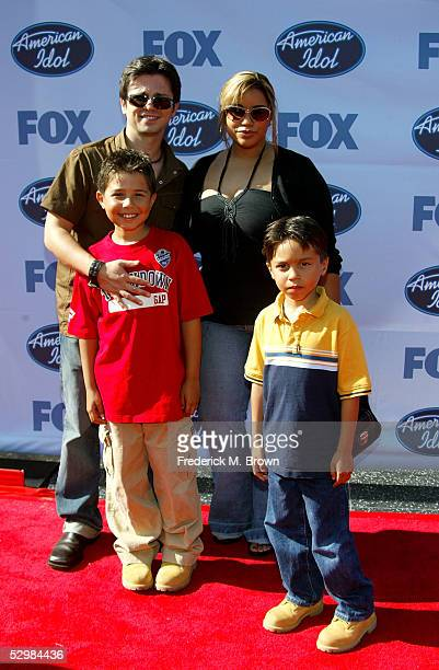 Actor Freddy Rodriquez and family arrive at the American Idol Finale Results Show held at the Kodak Theatre on May 25 2005 in Hollywood California