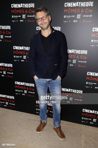 """Actor Frederic Gorny attend """"Momes et Cie"""" Exhibition Launch at Cinematheque Francaise on March 26, 2017 in Paris, France."""