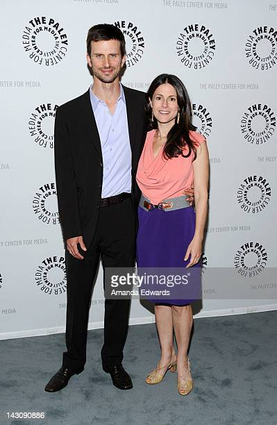 Actor Frederick Weller and his wife Ali Marsh arrive at The Paley Center For Media Celebrates Final Season Of USA Network's In Plain Sight at The...