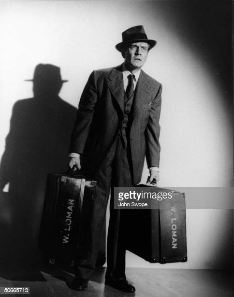 Actor Fredric March as Willy Loman in film Death of a Salesman from Arthur Miller play of the same name