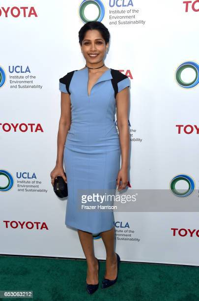 Actor Freida Pinto at UCLA Institute of the Environment and Sustainability celebrates Innovators For A Healthy Planet at a private residence on March...