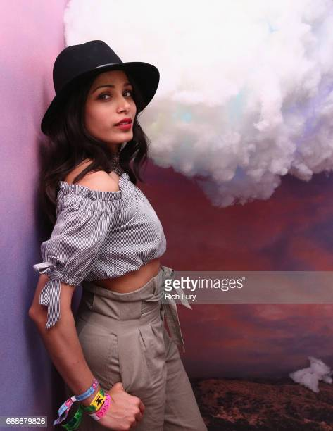 Actor Freida Pinto attends HM Loves Coachella Tent during day 1 of the Coachella Valley Music Arts Festival at the Empire Polo Club on April 14 2017...