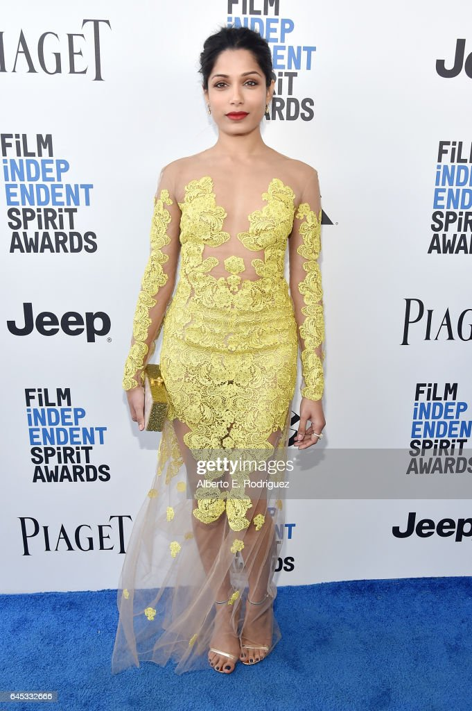 Actor Freida Pinto attends the 2017 Film Independent Spirit Awards at the Santa Monica Pier on February 25, 2017 in Santa Monica, California.