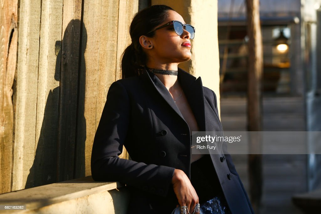 Actor Freida Pinto attends the Christian Dior Cruise 2018 Runway Show at the Upper Las Virgenes Canyon Open Space Preserve on May 11, 2017 in Santa Monica, California.