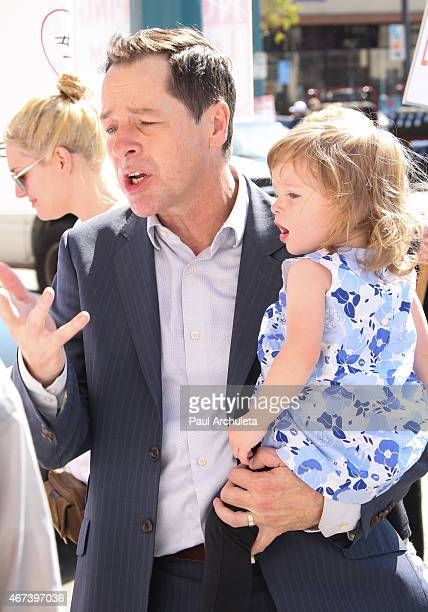 Actor French Stewart and his daughter Helene Claire Stewart attend the AEA actors picket their own union over the proposal to end the 99seat theater...