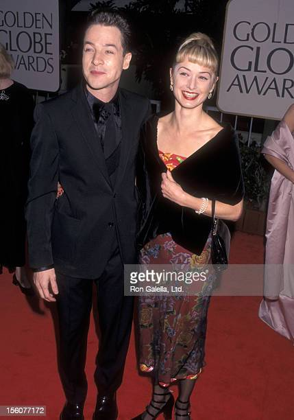 Actor French Stewart and wife Actress Katherine LaNasa attend the 55th Annual Golden Globe Awards on January 18 1998 at Beverly Hilton Hotel in...