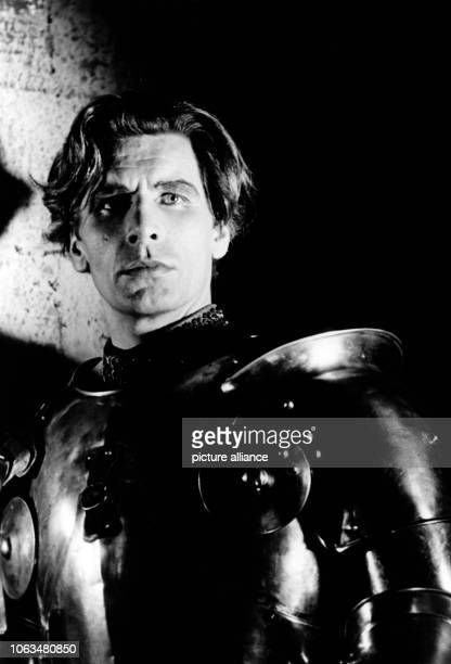 Actor Friedrich Schoenfelder as Duke Albrecht of Bavaria in a scene of the Bavarian play Die Bernauerin by Carl Off in the state theatre of...