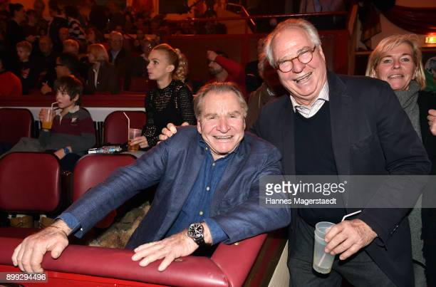 Actor Fritz Wepper and Friedrich von Thun during Circus Krone celebrates premiere of 'In Memoriam' at Circus Krone on December 25 2017 in Munich...