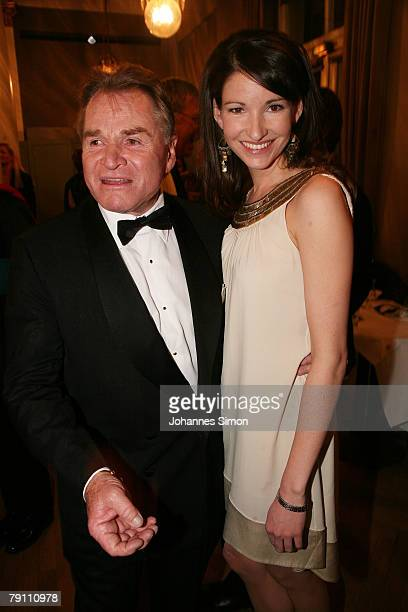 Actor Fritz Wepper and his daughter Sophie pose after the awarding ceremony of the Bavarian Film Awards on January 18 2007 in Munich Germany