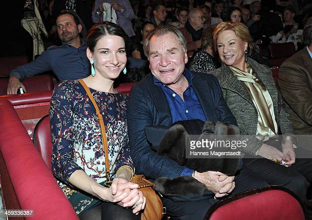 Actor Fritz Wepper Angela Wepper and daughter Sophie Wepper attend the Circus Krone Christmas Show at Circus Krone on December 25 2013 in Munich...
