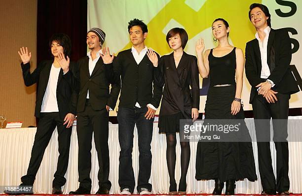 Actor Fujiwara Tatsuya and Ananda Everingham and John Cho and Zo InSung and Actress Lim SooJung and Yu Nan attends Star Summit AsiaCurtain Call Press...