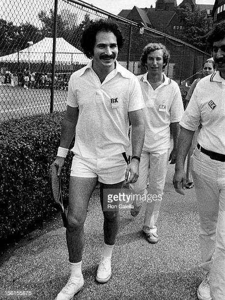 Actor Gabe Kaplan attends Robert F Kennedy Celebrity Tennis Tournament on August 28 1976 at Forest Hills Stadium in New York City