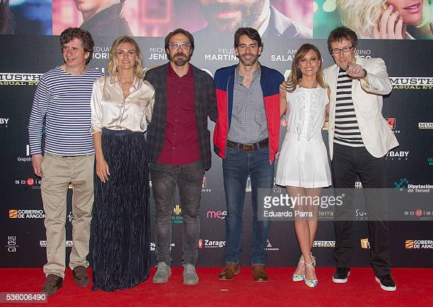 Actor Gabino Diego actress Amaia Salamanca actor Fele Martinez actor Eduardo Noriega actress Michelle Jenner and director Miguel Angel Lamata attend...