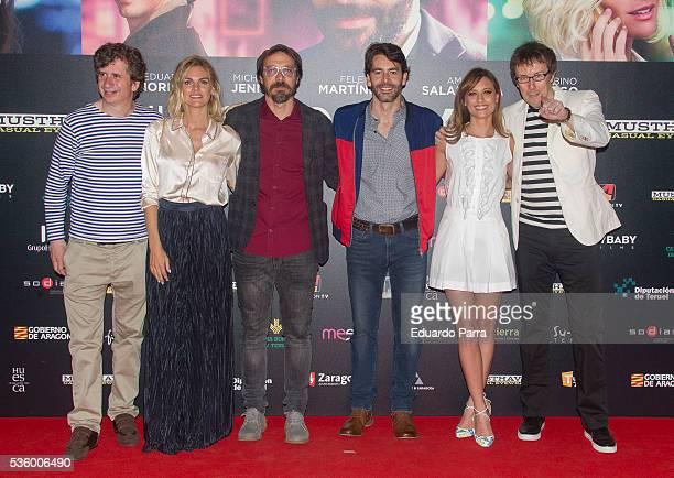 Actor Gabino Diego, actress Amaia Salamanca, actor Fele Martinez, actor Eduardo Noriega, actress Michelle Jenner and director Miguel Angel Lamata...