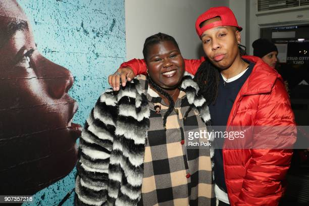 Actor Gabourey Sidibe and 'The Chi' creator/EP Lena Waithe attend THE CHI Party presented by SHOWTIME and Amazon Channels at the IMDb Studio on...