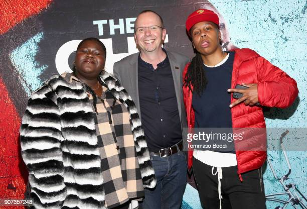 Actor Gabourey Sidibe IMDb founder and CEO Col Needham and 'The Chi' creator/EP Lena Waithe attend THE CHI Party presented by SHOWTIME and Amazon...