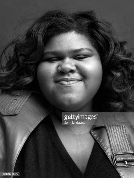Actor Gabourey Sidibe is photographed for the Sunday Times on October 24 2011 in London England