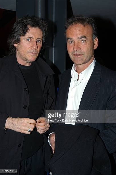 Actor Gabriel Byrne gets together with director Nick Broomfield before a special screening of Broomfield's documentary film about Aileen Wuornos...