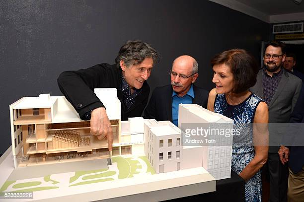 Actor Gabriel Byrne Shaun Kelly and Mary Kelly attend the Irish Arts Center Almost Home Campaign Launch on April 22 2016 in New York City