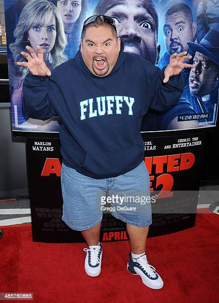 4ab9159e506f2 Actor Gabriel Iglesias arrives at the Los Angeles premiere of A Haunted  House 2 at Regal.