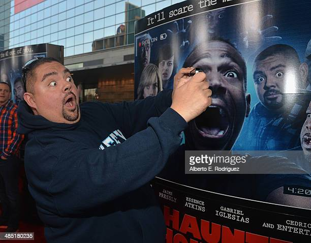 Actor Gabriel Iglesias arrives to the premiere of Open Road Films' 'A Haunted House 2' at Regal Cinemas LA Live on April 16 2014 in Los Angeles...