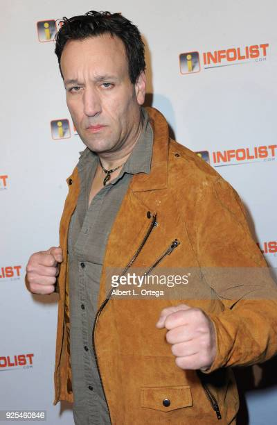 Actor Gabriel Jarret attends the INFOListcom's PreOscar Soiree and Jeff Gund Birthday Party held at Mondrian Sky Bar on February 27 2018 in West...