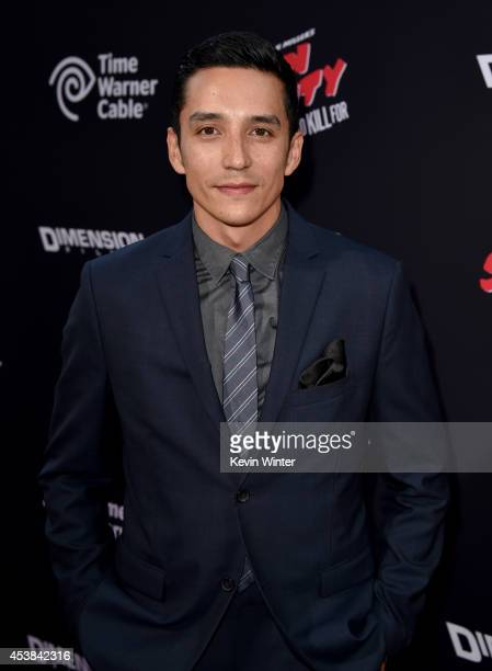 Actor Gabriel Luna attends the premiere of Dimension Films' Sin City A Dame To Kill For at TCL Chinese Theatre on August 19 2014 in Hollywood...