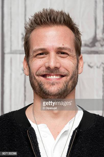 """Actor Gabriel Macht attends AOL Build Presents """"Suits"""" at AOL Studios In New York on January 27, 2016 in New York City."""