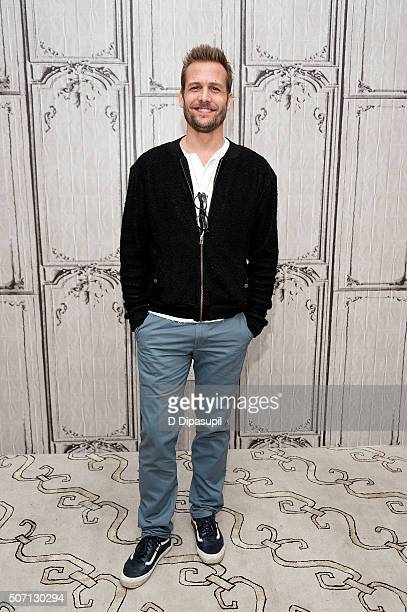 Actor Gabriel Macht attends AOL Build Presents Suits at AOL Studios In New York on January 27 2016 in New York City