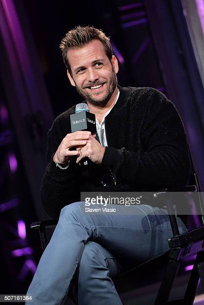 """Actor Gabriel Macht discusses the fifth season of USA Network's show """"Suits"""" at AOL Build at AOL Studios In New York on January 27, 2016 in New York..."""