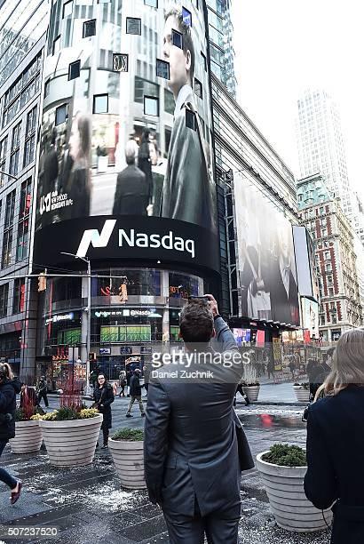 Actor Gabriel Macht rings the Nasdaq Opening Bell at NASDAQ MarketSite on January 28 2016 in New York City