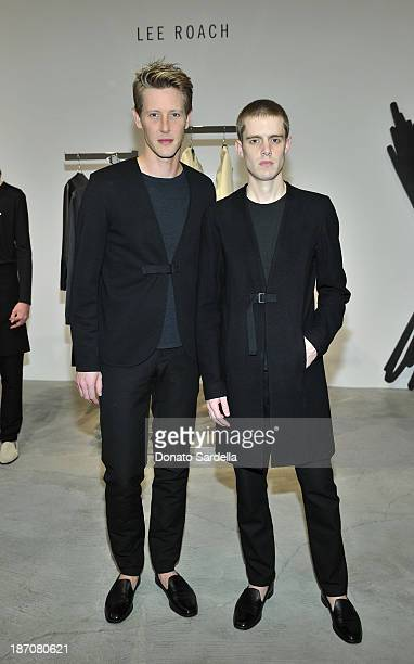 Actor Gabriel Mann and designer Lee Roach attends LONDON show ROOMS LA Opening SS14 on November 5 2013 in Los Angeles California