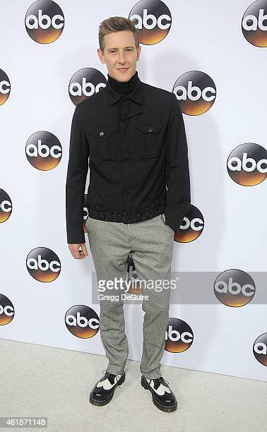 Actor Gabriel Mann arrives at Disney ABC Television Group's TCA Winter Press Tour on January 14 2015 in Pasadena California