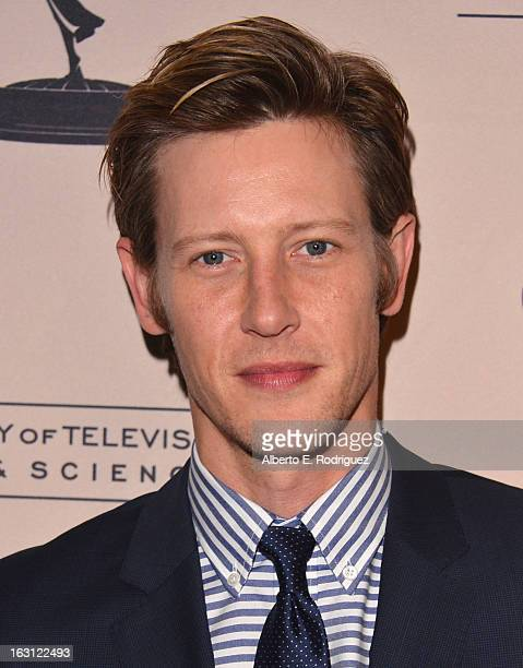 Actor Gabriel Mann arrives to the Academy of Television Arts and Sciences' An Evening with Revenge at Leonard H Goldenson Theatre on March 4 2013 in...