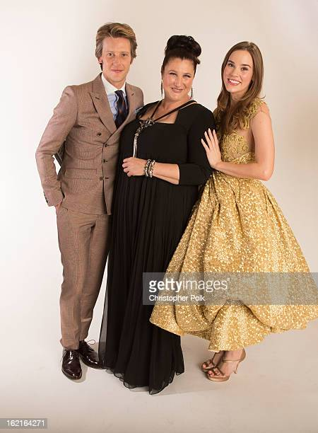 Actor Gabriel Mann Costume Designer Jill Ohanneson and actress Christa B Allen pose for a portrait during the 15th Annual Costume Designers Guild...