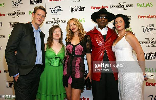 Actor Gabriel Mann director Rachel Samuels actress Bijou Phillips actor Toledo Diamond and his girlfriend Marilyn Cole arrive at the Dark Streets...
