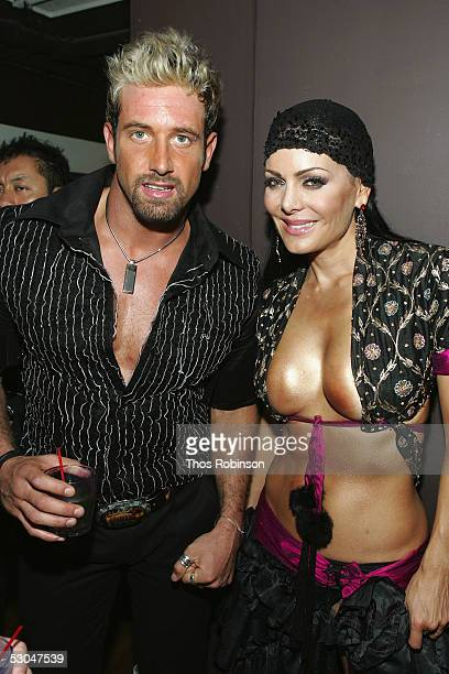 Actor Gabriel Soto and Singer/Actress Maribel Guardia attend the Star Studded 5th Anniversary of Mira Magazine at Temple on June 9 2005 in New York...