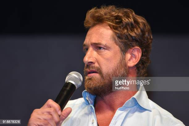 Actor Gabriel Soto is seen during a press conference to announce the theater play 'Porque los Hombres Aman a las Cabronas' at the 11 of July Theatre...