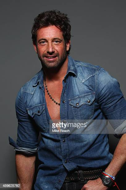 Actor Gabriel Soto poses for a portrait during the UFC 180 event at Arena Ciudad de Mexico on November 15 2014 in Mexico City Mexico